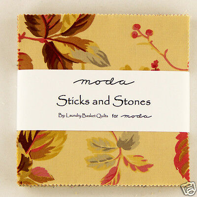 """Charm pack Sticks and Stones by Laundry Basket Quilts for Moda #42210PP 42 - 5"""""""