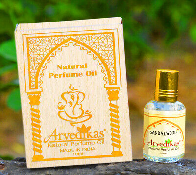 Chakra Sandalwood Fragrance 100% Natural Perfume Oil, Made In India-10Ml