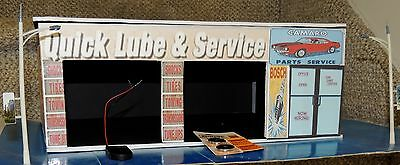 NEW CUSTOM GARAGE OFFICE KIT 2 LIGHTED LAMP POST+POWER SOURCE 1:24 Scale DIORAMA