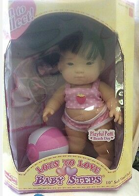 Berenguer Baby Steps~ Asian Playful Patti Beach Day  MIP~Never Removed From Box!