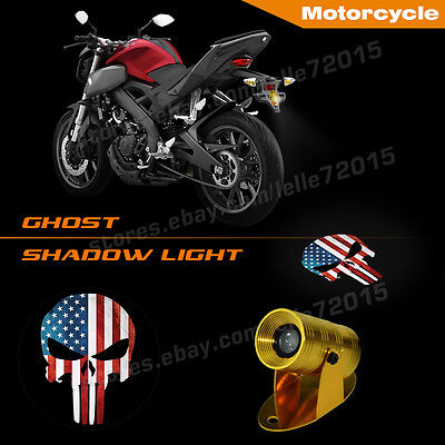 3D Punisher Skull American Flag Motorcycle Rear laser projector LED Shadow Light