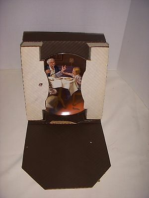 """Vintage Norman Rockwell Collectors Plate W/ Box - 1985 - """" The Gourmet """""""