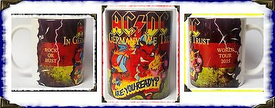 Ac/dc- Are You Ready- In Germany We Trust -Rock Or Bust-  World Tour 2015- Mug
