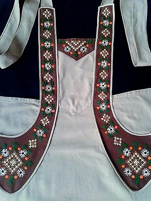 Apron, Vintage, With Folk Design From 1970's, Hand-Made!