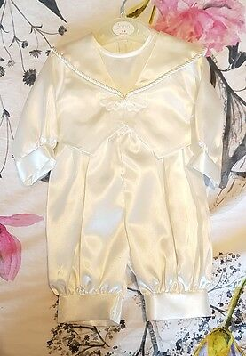 Baby boys / girls gown / romper Christening / communion / Baptism. 0-3 months