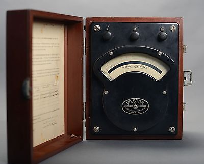 vintage Weston AC & DC volt meter model 341 with case