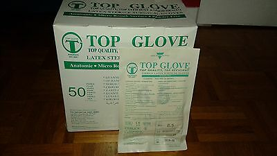 Top Glove, Latex surgical glove Size 6.5 powder-free (36 pairs in the box)
