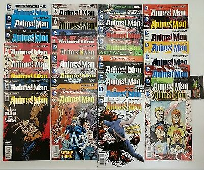 Animal Man 0-29 Annuals 1 & 2 Complete Set New 52 With Signed Issues DC Comics