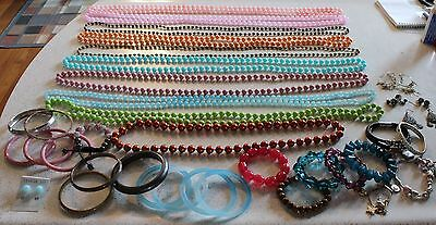 38 Piece Costume Jewelry Lot - Necklaces, Bangles/Bracelets and Earrings
