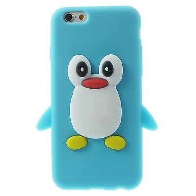 Cute Penguin Soft Silicone Case for iPhone 6 / 6s 4.7 inch - Baby Blue