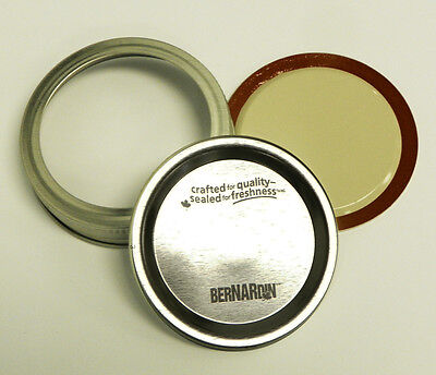 Bernardin Mason Jar Lids & Screw Bands - GEM