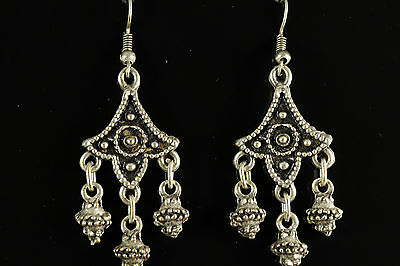 Close Out Lot Of 3 Pairs Turkish Silver Earrings