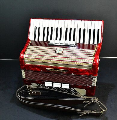 VINTAGE PROFESSIONAL GERMAN TOP PIANO ACCORDION WELTMEISTER 96 bass+NEW STRAPS