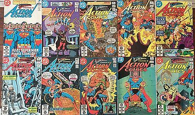 10 Of Early 1980s DC Superman Action Comics .