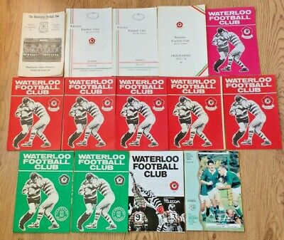 Waterloo Rugby Union Programmes 1981 - 1996