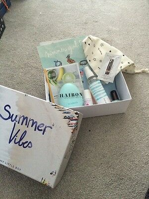 My Little Box Summer Vibes,Beach Hair, Soigné Nail Polish, Hair Tangle Brush,lip