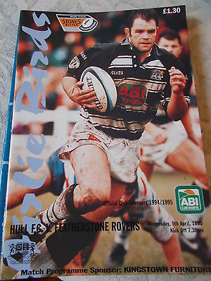 5.4.95 Hull v Featherstone Rovers programme