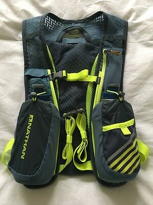 Nathan Fireball Race Vest Hydration Backpack with Two Insulated Flasks