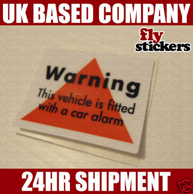 VW Retro Alarm Sticker OEM Mk3 Polo G40 Corrado G60