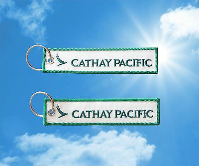 Cathay Pacific Keychain Keyring baggage luggage tag