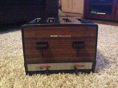 Vintage Chrome 4 Slice Toaster Sears Kenmore Twin Control