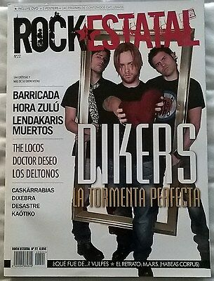 Revista Rock Estatal Nº22 + DVD - Dikers, Barricada, Hora Zulu, The Locos
