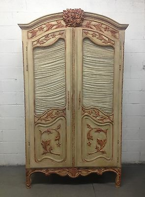 Louis XV Style French Painted Cabinet Wardrobe Armoire