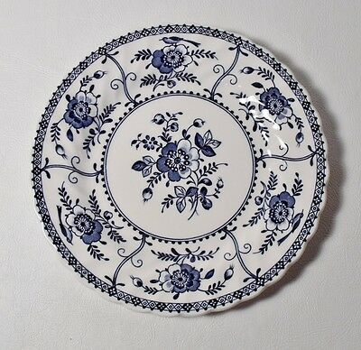 "4 Johnson Brothers INDIES BLUE 6-1/4"" Bread & Butter Plates MINT"