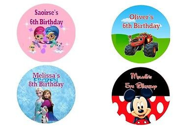 Personalised Birthday Party Stickers Labels Various Designs