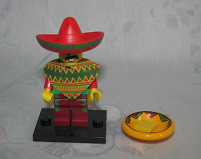 The Lego Movie Series Minifigure - Taco Tuesday Guy - Stand, Plate, Sombrero