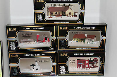 K-line Building  kits K-4011/4111/4120/4132/4150  (5) different ones
