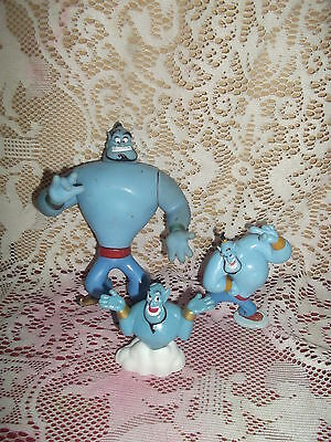 """3 PVC Genie Figurine Toys  McDonalds, Applause & Other. Largest 5 1/2"""""""