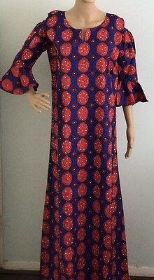 Ankara African Print All Stone Decorated Dress Uk 14