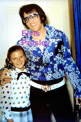 Elvis Presley With A Fan In The Foyer Of Graceland Sept 23 1970 Photo Candid