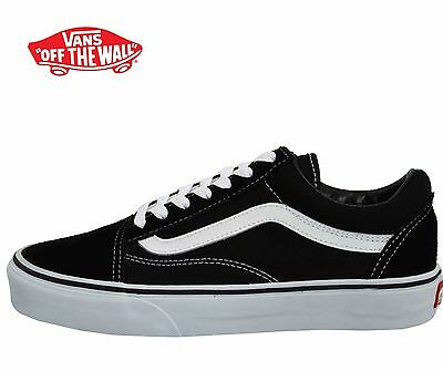 Men's Vans Old Skool Fashion Sneaker Classic Black White Canvas Suede All SZ NEW