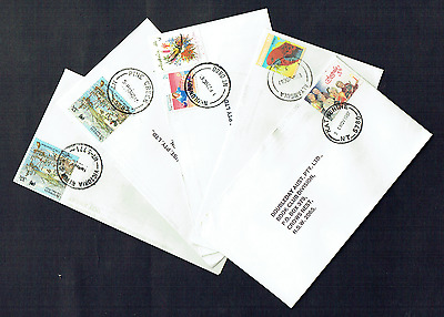 N.T. Postmarks on Commercial Mail Covers ~ All Different ~ Lot of 5