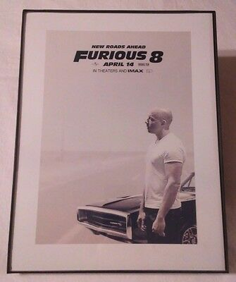 Framed Movie Print : New Roads Ahead Furious 8 In Theaters & IMAX April 14 2017
