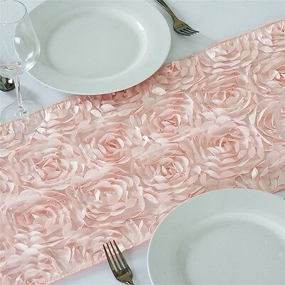 """15 RIBBON ROSETTES 13x108"""" TABLE RUNNERS Wedding Party Reception Decorations"""