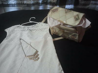 shirt, and purse and necklace set
