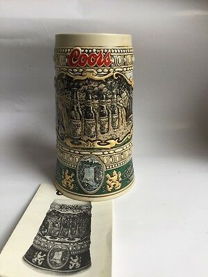 NEW COORS 1990 Collectors Edition Beer Stein Mug Cup Brazil