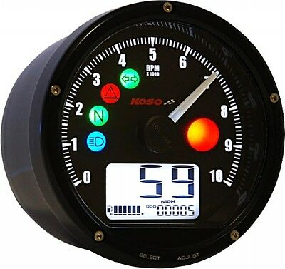 Koso T & T Multi Function Meter (Black) (Ba035K00)