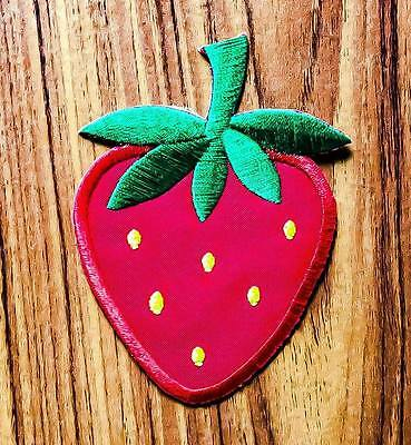 CUTE PRETTY RED STRAWBERRY Embroidered Iron on Patch