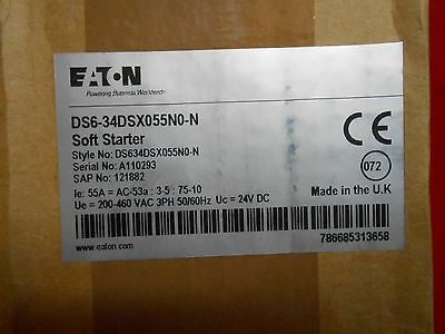 Eaton  Ds6-34Dsx055N0-N  Soft Starter 55Amps