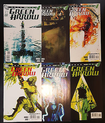 Green Arrow: Year One #1-6 (2007, DC) Complete Set 1 2 3 4 5 6 VF-NM