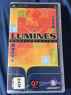 Lumines Puzzle Fusion PSP Case And Manual NO GAME