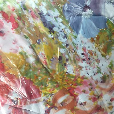 """Vinyl Table Cloth Round 50"""" - 60"""" Fitted Elastic Water Color Pattern Cover NEW"""