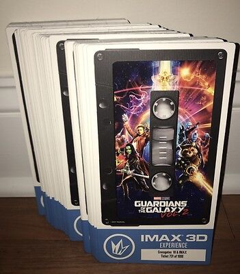 Guardians of The Galaxy Vol. 2 Collectible IMAX Special Edition Tickets ?/1000