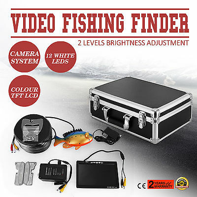 60m 7 LCD Fish Finder Screen Underwater Fishing Camera Stable Recorder 250cd/m2