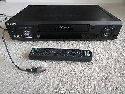 Sony SLV 779hf VHS VCR Stereo Recorder Player Hi Fi Remote Video Cassette Tested