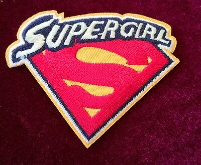 $1 POST! DIY Supergirl Superman Embroidered Patch - Hot Iron-on Transfer Sew On